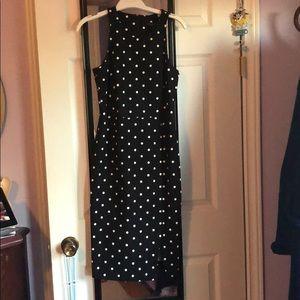 A Line polka dot banana republic dress size 0
